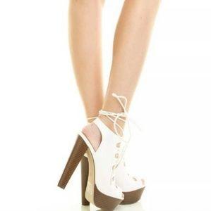 Breckelles stilleto lace up shoes